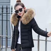 棉衣女正韓短款連帽修身顯瘦加厚大尺碼羽絨棉服外套  快速出貨