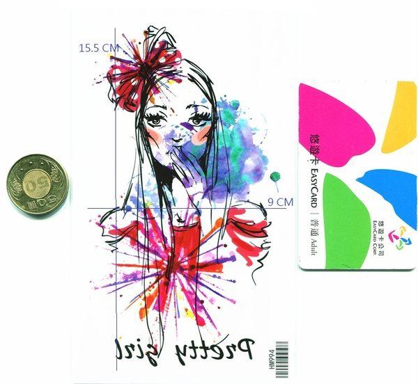 薇嘉雅  美女  超炫圖案紋身貼紙 HM994