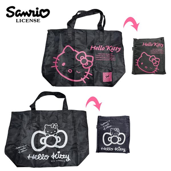 【日本正版】凱蒂貓 折疊 行李袋 30L 旅行袋 肩背包 超大容量 防潑水 Hello Kitty 三麗鷗 245466 245473