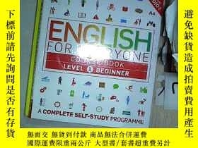 二手書博民逛書店ENGLISH罕見FOR EVERYONG COURSE BOOK LEVEL 1 BEGINNER 常青英語一級