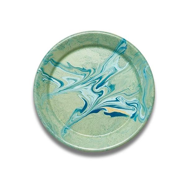 BORNN琺瑯 MARBLE圓盤25cm-薄荷綠