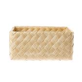 北歐木紋長方型大編織籃W41 奶油色