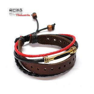純皮油麻繩編手鏈