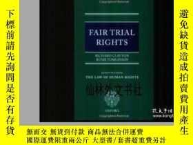 二手書博民逛書店【罕見】2001年出版 Fair Trial RightsY27