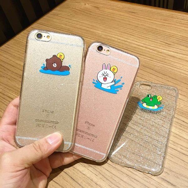 iPhone6 PLUS超薄透明卡通TPU 蘋果iPhone6 亮粉軟套(任選二件$900)