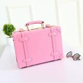 迷你行李箱 復古14寸手提箱子小行李箱女15密碼旅行箱小型迷你輕便化妝收納包