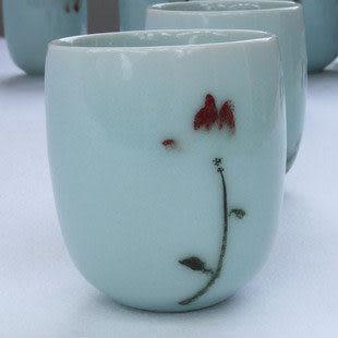 青瓷青彩暖心杯-含香 水杯