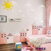兒童房裝飾墻貼嬰兒榻榻米床頭墻墊寶寶房間ins墻圍防撞自粘軟包