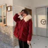 棉衣羊羔毛chic棉襖女2018新款短款加厚ins棉服外套