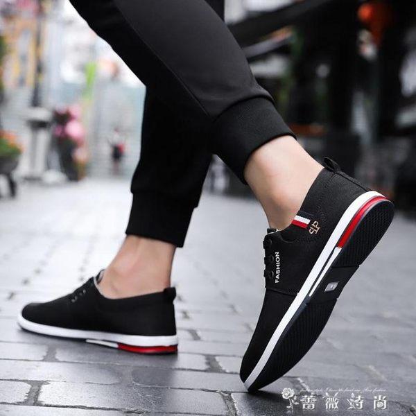 老北京布鞋男青年春季透氣韓版系帶休閒鞋軟底布鞋工作男鞋帆布鞋 時尚潮流