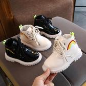 女童靴 兒童靴子女童短靴洋氣馬丁靴2020秋冬女孩子皮靴子男童加絨棉鞋子【新年禮物】