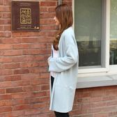 梨卡 - 甜美必備款純色顯瘦口袋針織衫外套/3色DR042
