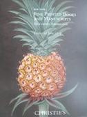 【書寶二手書T9/收藏_ZHH】Christie s_Fine Printed Books and…2012/6/22