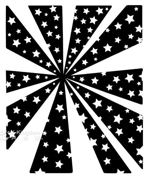 【貝登堡】手作 卡片 楓木印章 木頭印章 木頭章 放射星星光芒 KT-4529