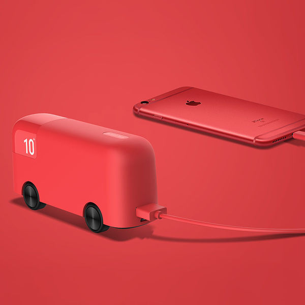 London Bus移動電源10000毫安通用 便攜迷妳小可愛創意充電寶超薄