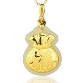 金鑲玉項鍊 和闐玉吊墜-加厚福袋生日情人節禮物男女飾品73gf15【時尚巴黎】