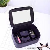 化妝包 - 黑色化妝盒化妝品防水化妝箱