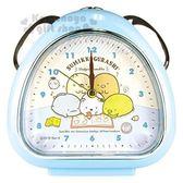 〔小禮堂〕角落生物 三角型鬧鐘《藍.看書.寫字》時鐘.精緻盒裝 4548626-08146
