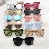 太陽眼鏡太陽鏡女款墨鏡潮韓國圓臉眼鏡 小明同學