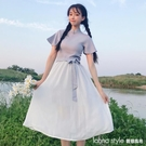 夏裝女裝中長款復古中國風修身顯瘦短袖旗袍洋裝短裙 半身長裙  LannaS