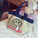 手提包 韓版微笑笑臉肩背包【O3134】☆雙兒網☆