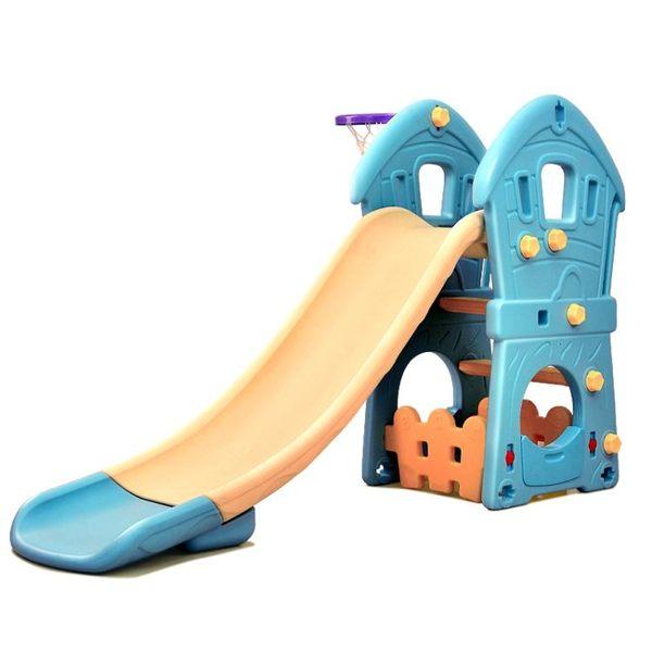 溜滑梯熊城堡單滑梯室內兒童小型玩具家用秋千滑滑梯籃筐收納組合jy【全館88折起】