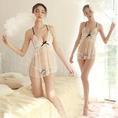 情趣睡衣 情趣內衣 夜火網紗露乳吊帶小胸睡裙大碼蕾絲透視裝激情套裝騷睡衣