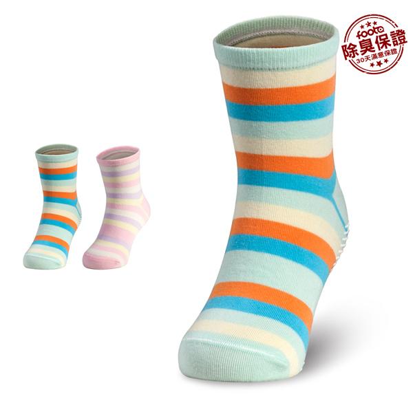 腳霸 斑馬兒童短筒除臭襪:薄底、止滑功能 輕除臭等級 foota除臭襪