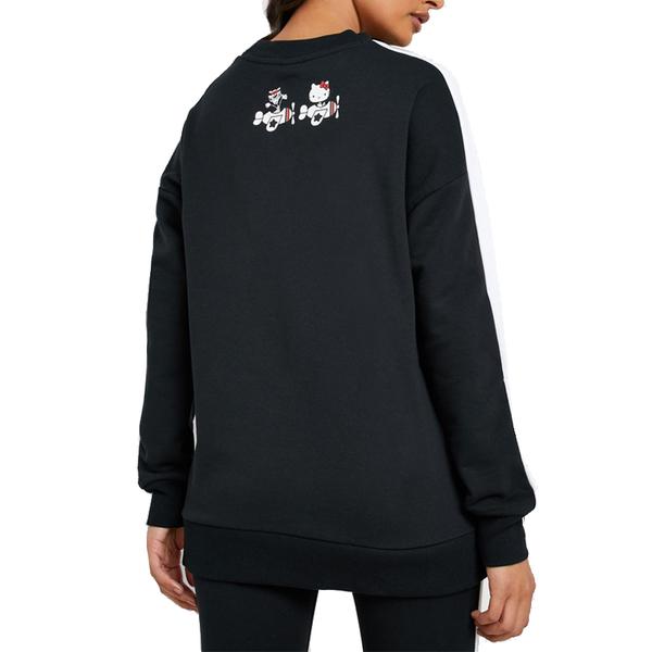 Puma Hello Kitty 女 黑色 長袖 上衣 圓領 T恤 棉質 聯名款 運動 休閒 保暖 長T 59713901