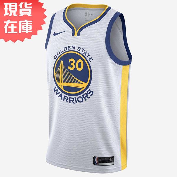 ★現貨在庫★ NIKE Stephen Curry 男裝 球衣 背心 NBA 金洲 勇士隊 白 【運動世界】864417-100