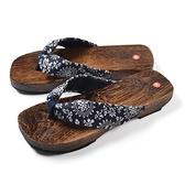 日式木燒桐木平跟涼拖鞋人字拖鞋女士木屐拖鞋【奇趣小屋】