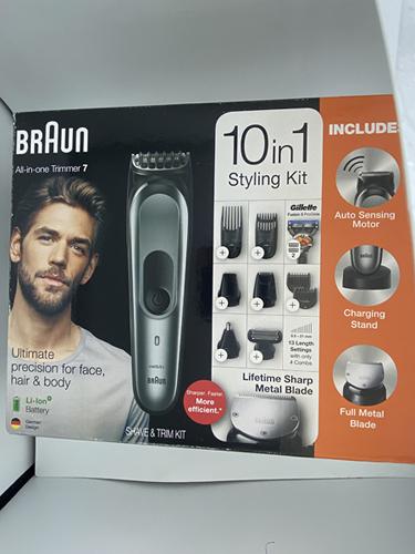 [8美國直購] 理髮器整容修剪器 Braun 10-in-1 All-In-One Trimmer MGK5045, Beard Trimmer Hair Clipper