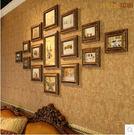 歐式照片牆相框牆組合 復古菱形創意相片牆...