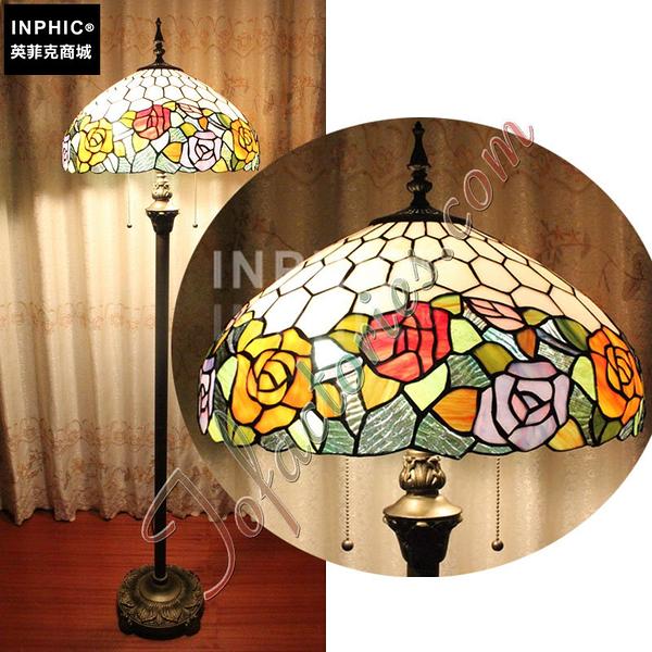 INPHIC-田園玫瑰派對臥室客廳裝飾手工藝術品落地燈_S2626C