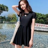 泳裙 泳衣女遮肚顯瘦新款網紅款連體保守沙灘裙大碼學生韓國ins風 莎瓦迪卡