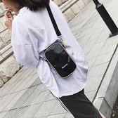 超火包女2019秋季新品潮寬帶單肩包韓製百搭側背包鐳射手機包尾牙 限時鉅惠