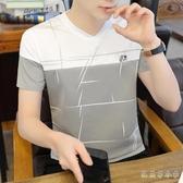 短袖T恤 正韓男士短袖T恤 新款潮牌男裝半截袖潮流夏季體?夏裝修身上衣服
