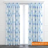 拼圖防螨抗菌遮光窗簾 藍 寬200x高165cm