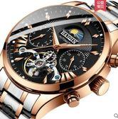 男手錶全自動機械錶鏤空士手錶防水時尚款2018新款手錶 時光之旅