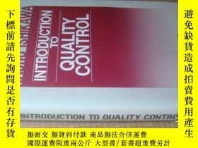 二手書博民逛書店INTRODUCTION罕見TO QUALITY CONTROL