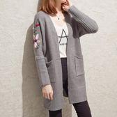 毛衣外套     2018新款韓版中長款針織衫女開衫寬松顯瘦