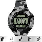 【台南 時代鐘錶 Adidas】愛迪達 ADP3227 迷彩橡膠多功能電子錶 灰黑 42mm 公司貨 開發票有保障