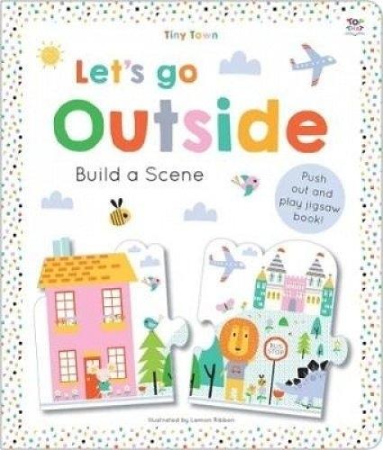 【幼兒認知拼圖書】LETS GO OUTSIDE build a scene /拼圖書《主題:城鎮》