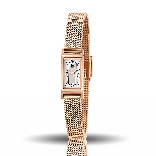 【lip】Churchill典藏方形時尚米蘭石英腕錶-玫瑰金/671228*/台灣總代理公司貨享兩年保固