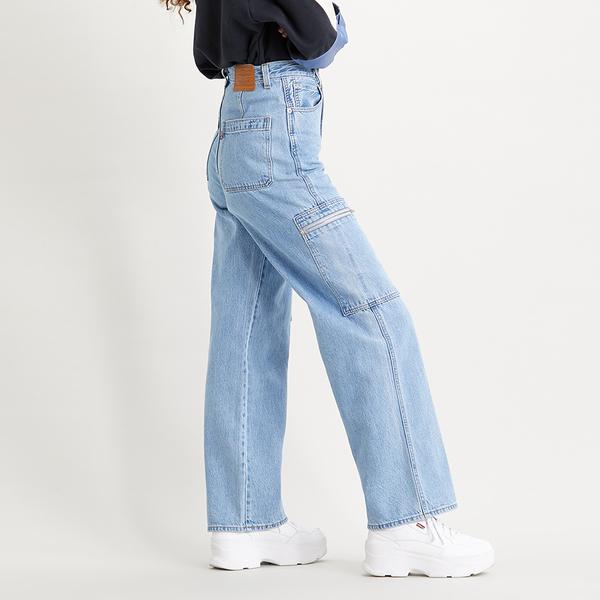 Levis 女款 High Loose 復古超高腰牛仔寬褲 / 率性工作風 / Lyocell天絲棉