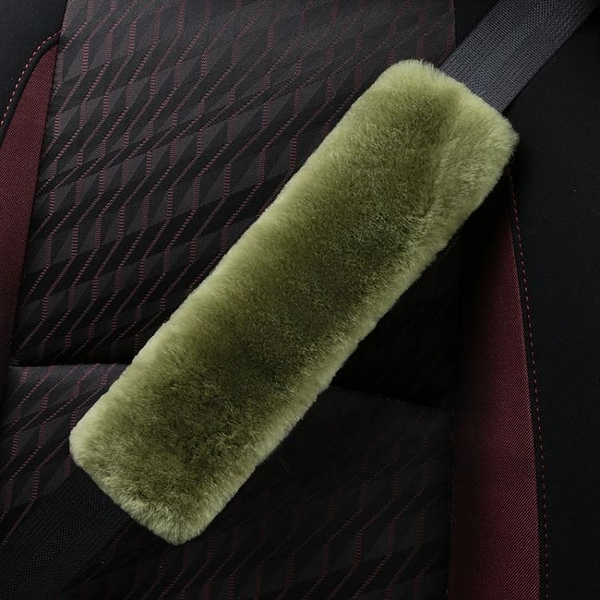 純羊毛安全帶護肩套汽車保險帶護套加長毛絨柔軟女士創意冬季用品 【快速出貨】