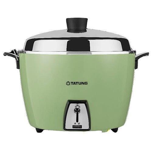 -送廚房隔熱組-大同10人份不鏽鋼電鍋TAC-10L-DCR/DCG 紅/綠 (超取一次限寄一顆)