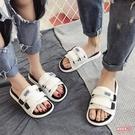 拖鞋 女夏2020新款外穿時尚情侶百搭一字沙灘鞋平底海邊涼拖鞋【快速出貨】