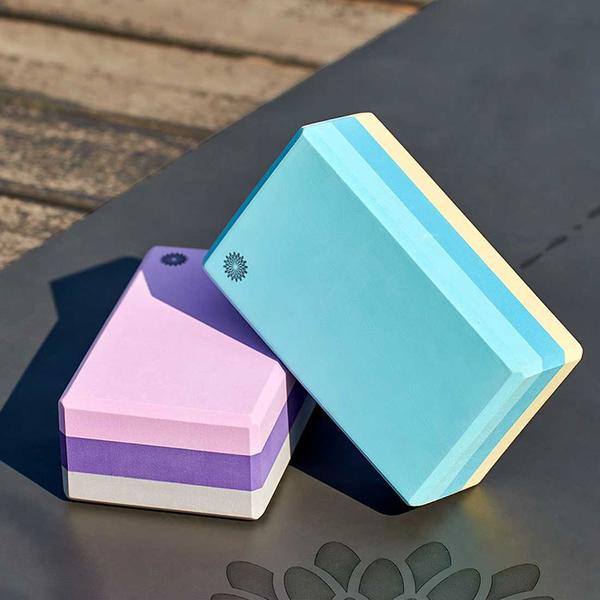 easyoga 瑜珈輔具 高優質瑜珈磚 50D - 三色紫
