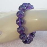【歡喜心珠寶】【天然巴西紫水晶A級品圓珠13mm手鍊】16顆.重46g「附保証書」開智慧寶石